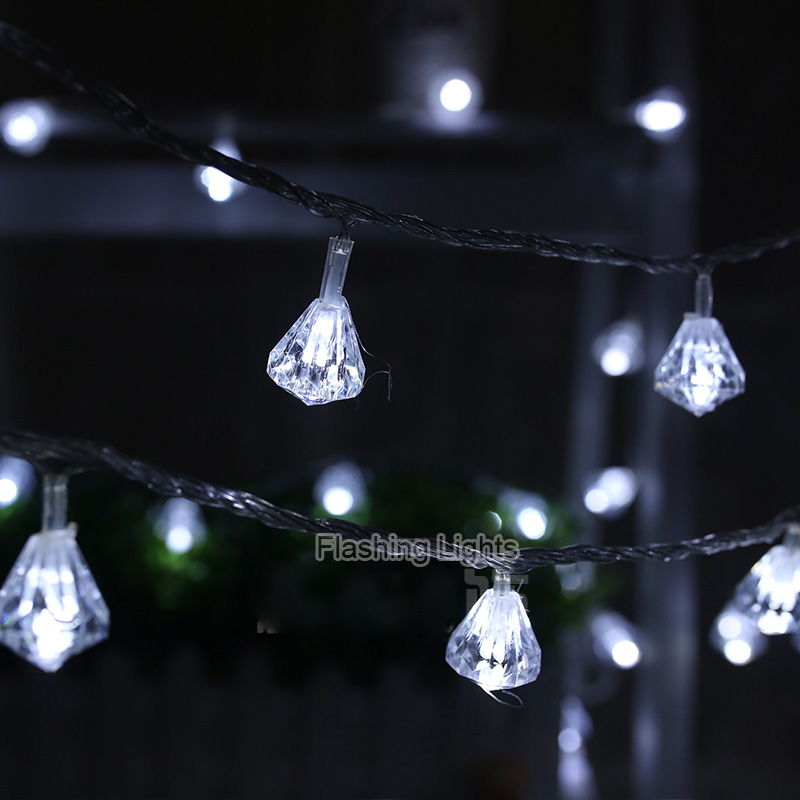 official photos 39cc0 a8d2d US $11.86 |luminaria 8M 50 LED diamond shaped String Lights outdoor Fairy  Lights christmas decorations for home wedding new year navidad-in LED  String ...