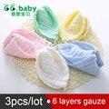 3 pcs do bebê mão towel toallas toalhas de banho infantil criança bebes infantil gaze de algodão toalha de banho do bebê recém-nascido de alimentação do bebê towel