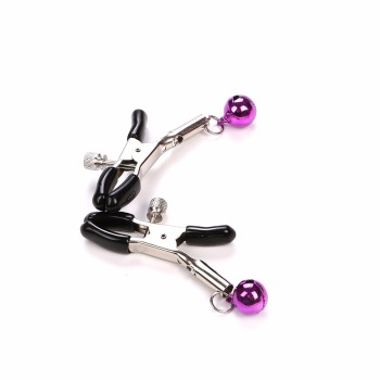 1 Pair Metal Bell Nipple Clamps Flirting Teasing Sex Flirt Bondage Kit Restraints BDSM Slave Nipple Exotic Accessories 1