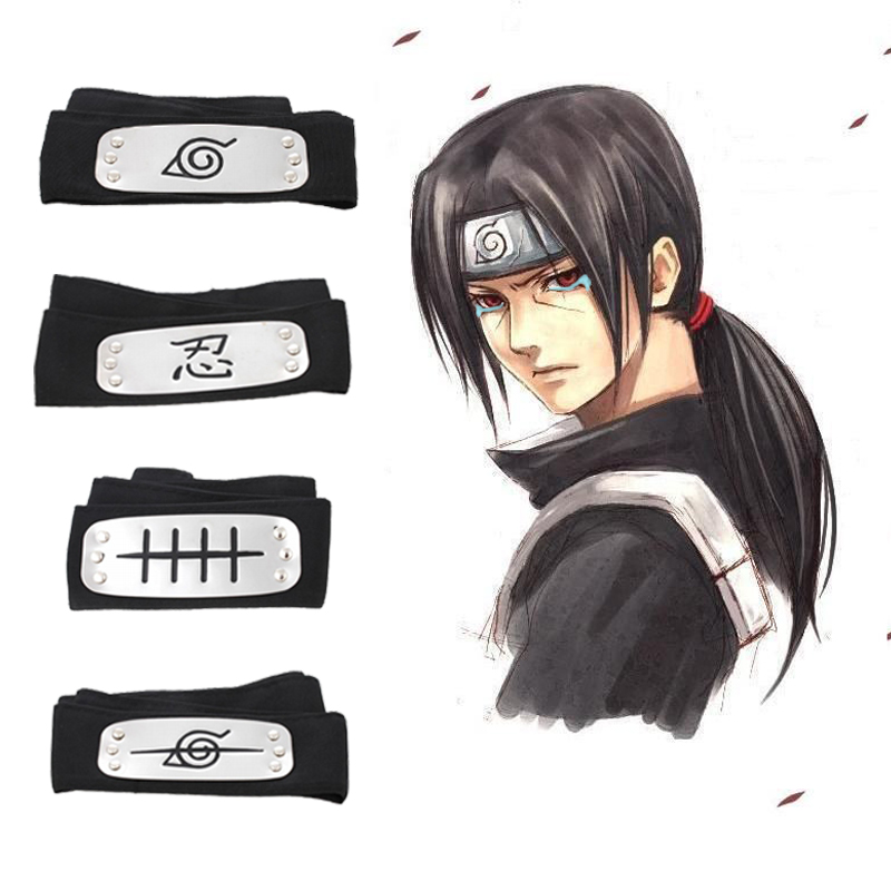 10 Styles Anime Naruto Cosplay Forehead Fashionable Headband Cartoon Cosplay Akatsuki Accessories For Kids font b