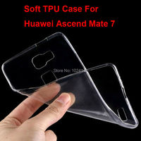 New Slim Crystal Clear Transparent Soft TPU Back Case Cover Protection Skin For Huawei Ascend Mate 7 6.0