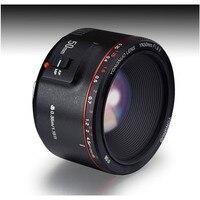 Светодиодная лампа для видеосъемки Yongnuo 50 мм F18 II второго поколения макро объектива Цифрового Фотоаппарата canon LR Портрет с постоянным фокусн...