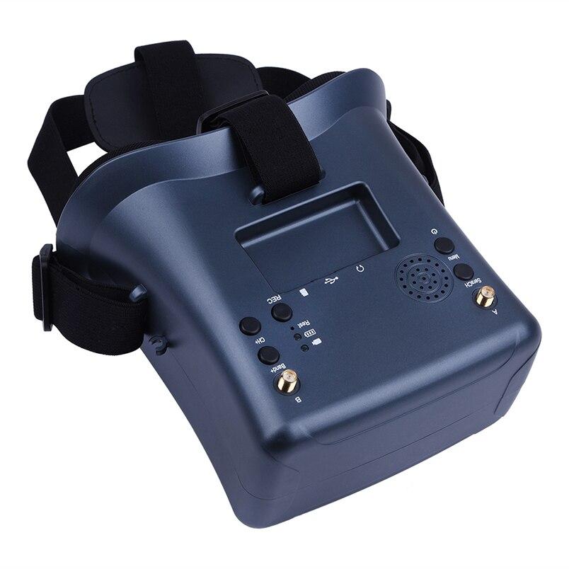 JMT LS-008D 5.8G 40CH FPV lunettes 4.3 pouces batterie intégrée pour Drone de course modèle RC
