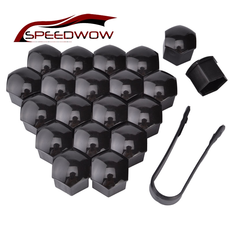 SPEEDWOW 20pcs Auto Hub Screw Cover 21mm Wheel Nut Bolt Head Cover Cap Nut Caps Bolt