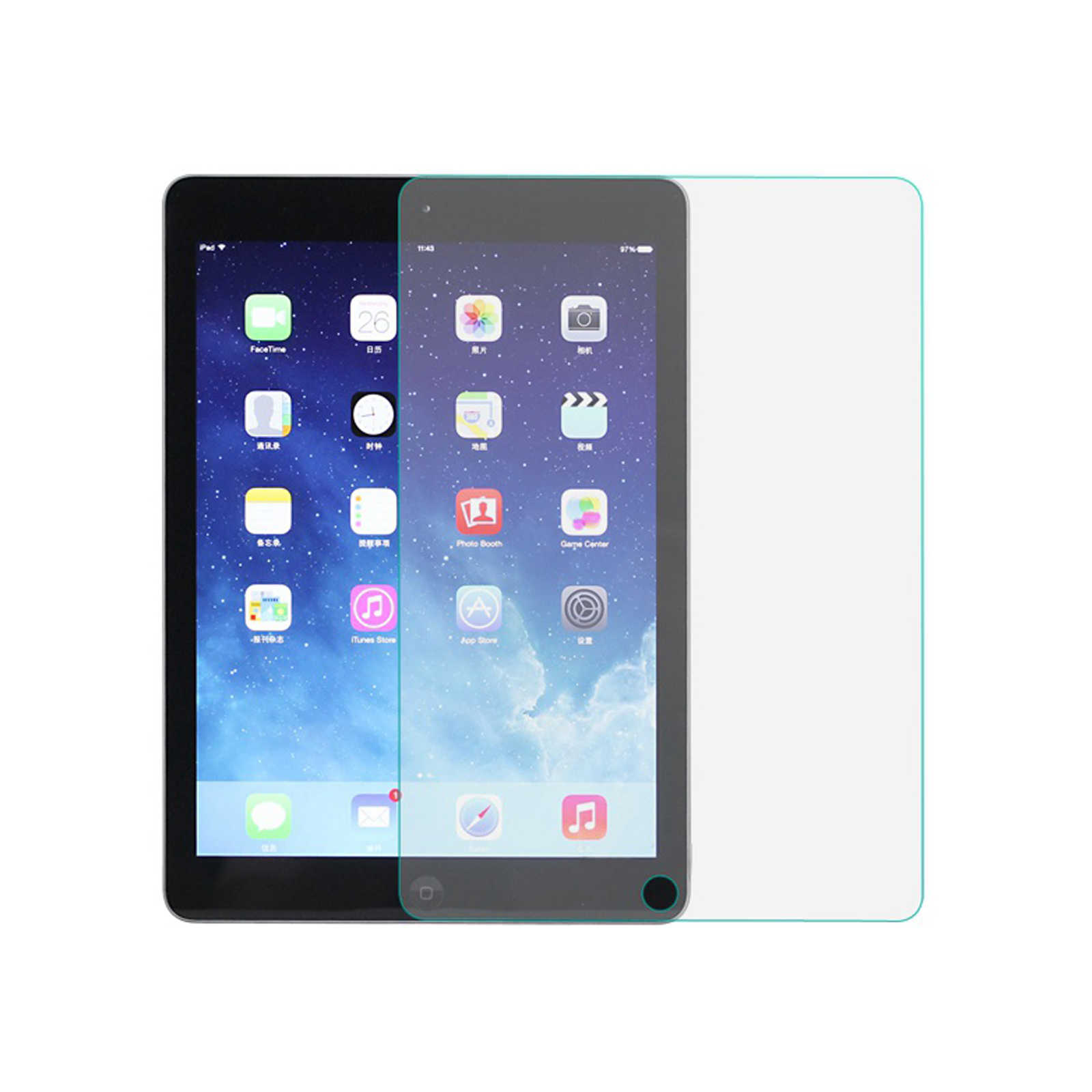 9 H szkło hartowane Screen Protector 9.7 cal Film dla ipad 2 3 4 air 1 2 pro folia ochronna 7.9 cal dla ipad mini 1 2 3 4 pod