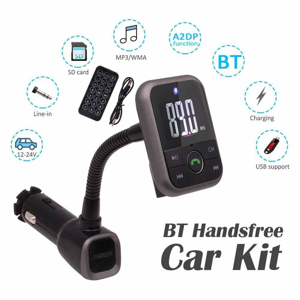 Wireless Car MP3 Audio Player Bluetooth FM Transmitter