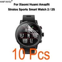 10 uds/lote para Xiaomi Huami Amazfit Stratos Pace 2 2S deportes SmartWatch cobertura completa suave TPU protector de pantalla de película (no cristal)