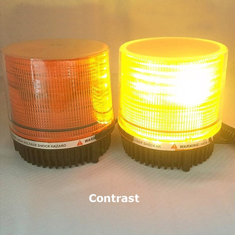 12/24V LED Car Roof Emergency Hazard Warning Light Vehicle Police Flasher Strobe Beacon Light Flashing Light Magnet Lamp Yellow dc12v 24v 5730smd 72 led car truck strobe flashing emergency light beacon rescue vehicle ambulance police warning lights lamp