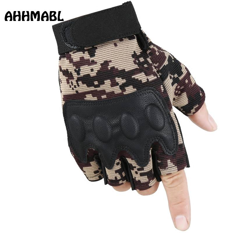Men's Gloves Gentle Outdoor Tactical Fingerless Gloves Military Camouflage Mens Mittens Biker Combat Fishing Cycling Half Finger Sitka Army G542