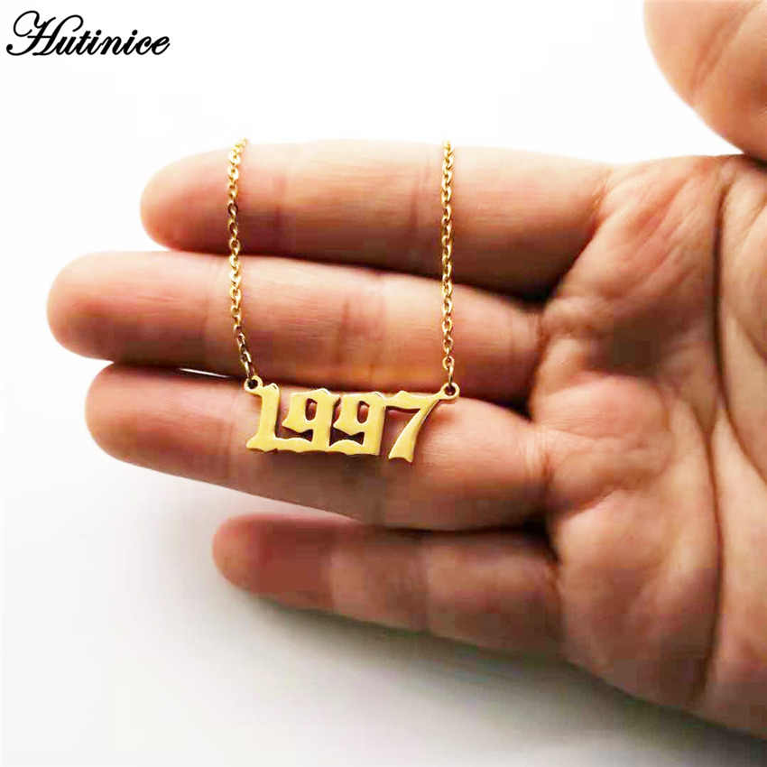 Custom Jewelry Special Date Year Number Necklace for Women 1994 1995 1996 1997 1998 1999 from 1980 to 2002 Personalized Collares