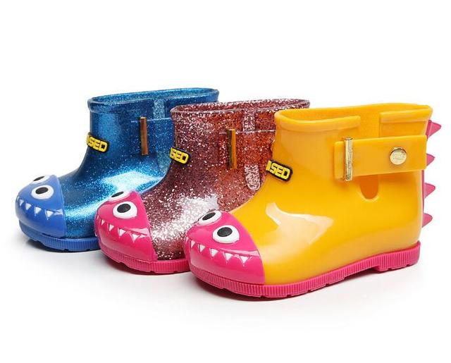 e15ef71efb0f Cute Little monster Style children boot baby girls and boys Rain Boots  Fashion Rubber Shoes Toddler Kids Jelly shoes hot sale