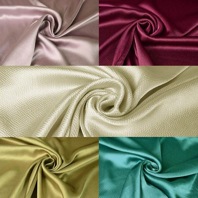Fashion Hoge Kwaliteit Parel Faux Zijde Satijn Stof Eenvoudige Effen Kleur Parel Satijn Kleding Materiaal voor Lente Herfst Jurken