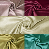 Fashion High Quality Pearl Faux Silk Satin Fabric Simple Solid Color Pearl Satin Clothing Material For