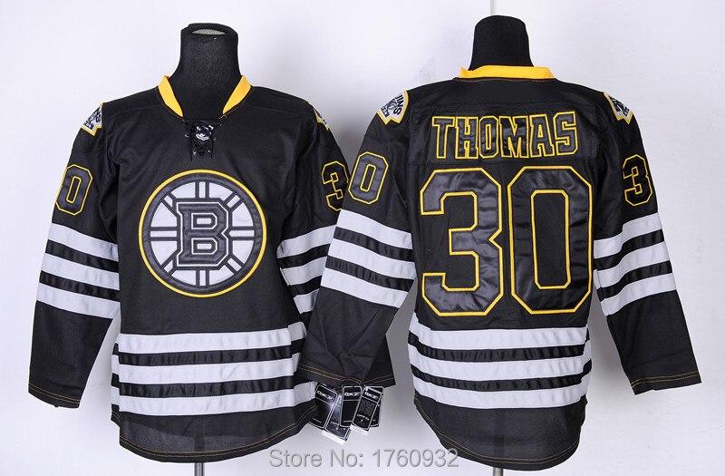 edf91fb74 New Popular Boston Bruins Jersey 30 Tim Thomas Jersey 2015 Orange Black  White ...