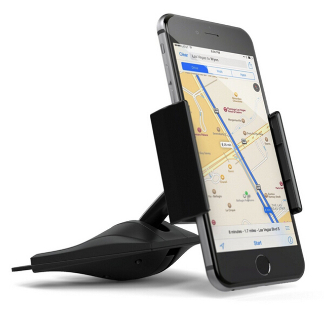 iphone mount. CD Car Mount Universal Click Slot Smartphone Holder Bracket For Iphone Samsung