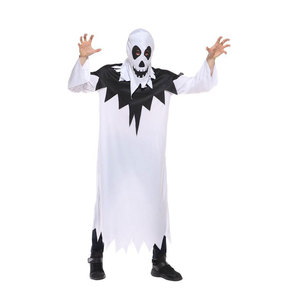 Volwassen Mannen Wit Spooky Ghost Kostuums Cosplay Robe Gown Halloween Geest Purim Party Carnaval Maskerade Mardi Gras Outfit(China)