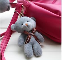 10PCS / LOT Hot 8cm Kawaii Små nallebjörnar Plush Leksaker Fyllda djur Fluffy Bear Dolls Mjuka Barnleksaker 12cm