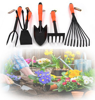 משלוח חינם 5 ב 1 חכם גינה סט כלי ראש כפול משדדה מגרפה מעדר מעדר ניהול גן, גן ילדי חוף צעצוע כלים