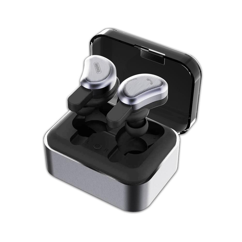 Remax TWS Bluetooth écouteurs sans fil 3D casque stéréo casque et batterie externe avec microphone mains libres appels