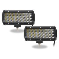 CO LIGHT 2PCS 7 Inch 72W Work Light Bar 12V 24V LED Light Bar For Tractor