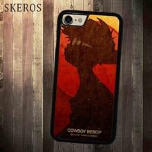 SKEROS Cowboy Bebop Silhouette cover cell phone case for iphone X 4 4s 5 5s  6 6s 7 8 6 plus 6s plus 7 plus 8 plus A57A 4fc15b2f6485