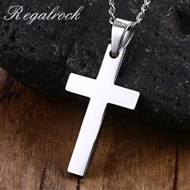 Regalrock классическая мужская кулон, крест ожерелье из нержавеющей стали звено цепи ожерелье массивные ювелирные изделия|Ожерелья с подвеской|   | АлиЭкспресс