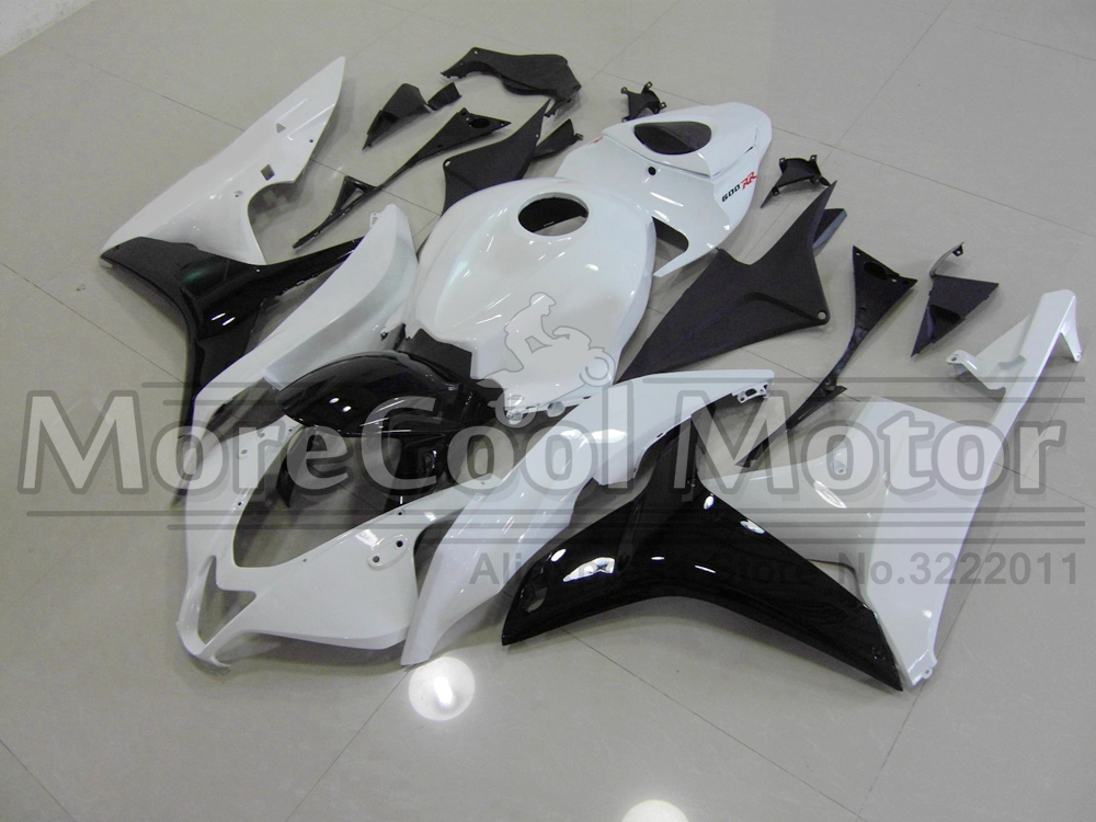 Good Quality Motorcycle CBR600RR 2007 2008 ABS Injection Molding Fairing Kit For Honda CBR 600 RR 07 08 Bodywork White And Black abs injection fairings kit for honda 600 rr f5 fairing set 07 08 cbr600rr cbr 600rr 2007 2008 castrol motorcycle bodywork part