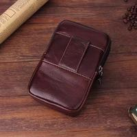 Belt Clip Man Genuine Cow Leather Mobile Phone Case Pouch For Huawei Honor 5A Mate 8