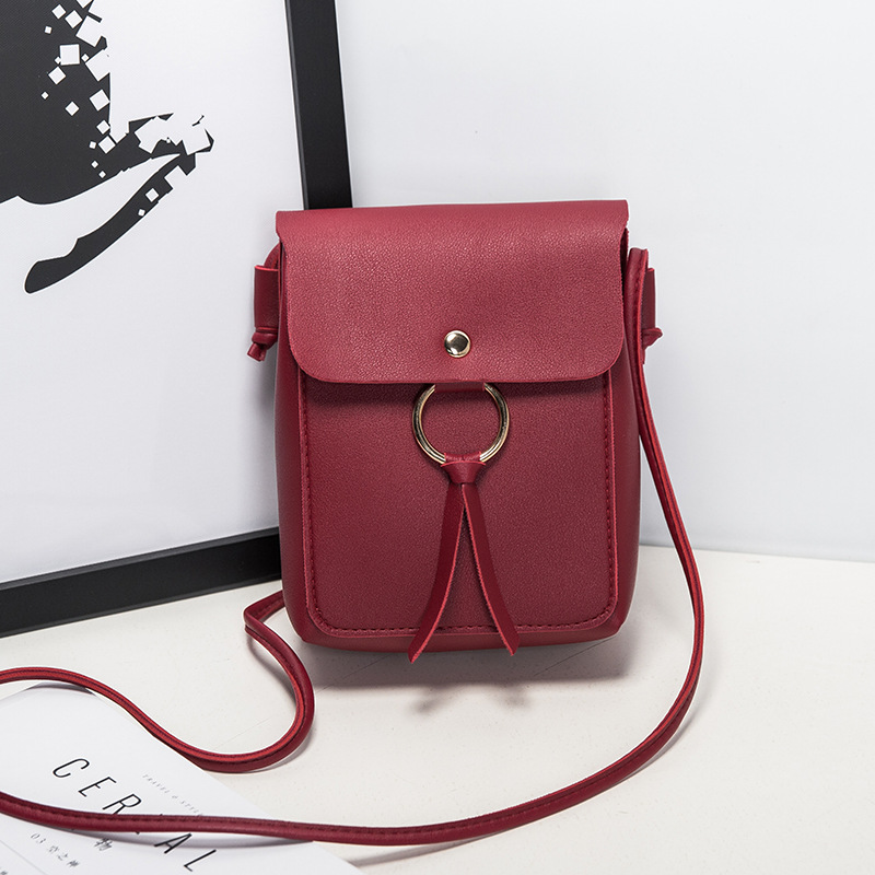Women Shoulder Bags Fashion Ms. Mobile Phone Bag Lady Lychee Pattern New Crossbody Purse Star With The Same Crossbody Bag 258