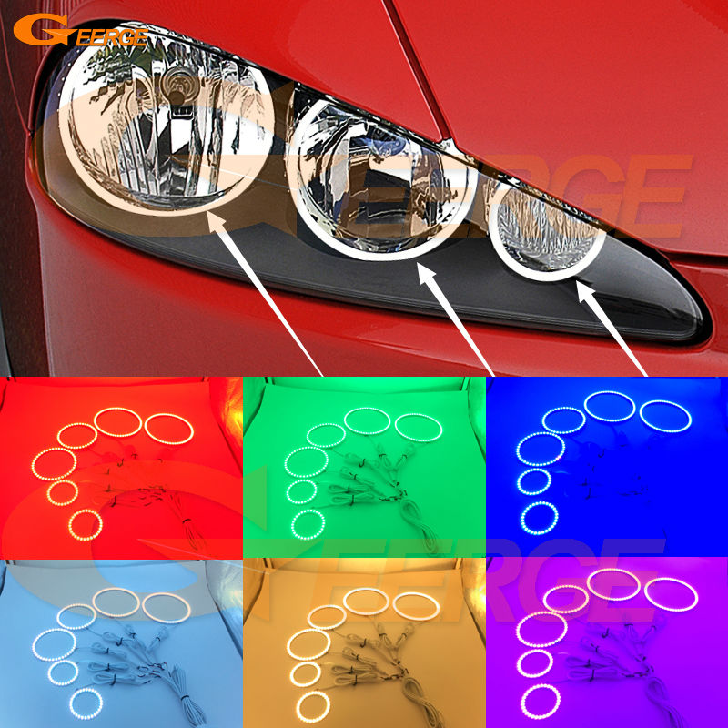 For Alfa Romeo 147 2005 2006 2007 2008 2009 2010 Excellent Multi-Color Ultra bright RGB LED Angel Eyes kit Halo Rings motocross dirt bike enduro off road wheel rim spoke shrouds skins covers for yamaha yzf r6 2005 2006 2007 2008 2009 2010 2011 20