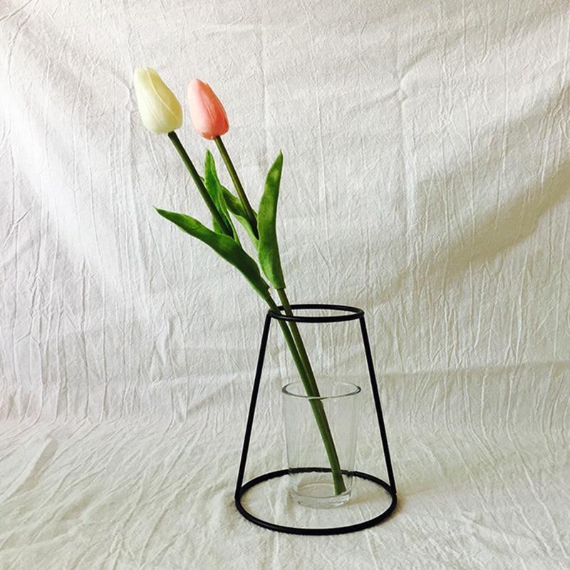 Iron Shelving Flower Vases 3