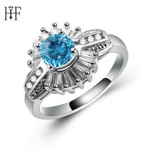 Silver Color Everlasting Grace Stackable Finger Ring with Clear CZ Original Fine Jewelry Blue Pink Crystal Cubic Zircon(China)