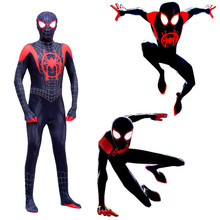 Kids Spider Man Cosplay New Super Spider Costume Into Spider Verse Miles Morales Bodysuit Suit Jumpsuits Adult Zentai Clothing
