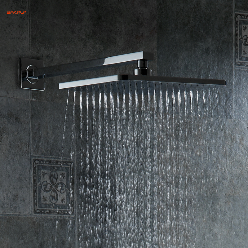 New Design Chrome Brass Shower Head Over-head Shower Sprayer Top Shower Head Wall/Ceiling Mounted Suqare And Retail SLSC02