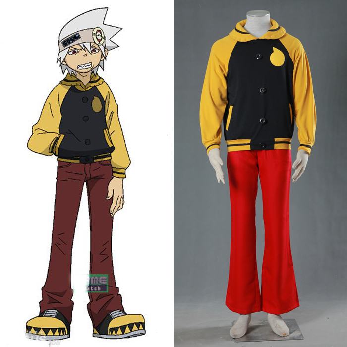 Anime Soul Eater Evans font b Men s b font Party Costumes Cosplay Costume Halloween Clothes