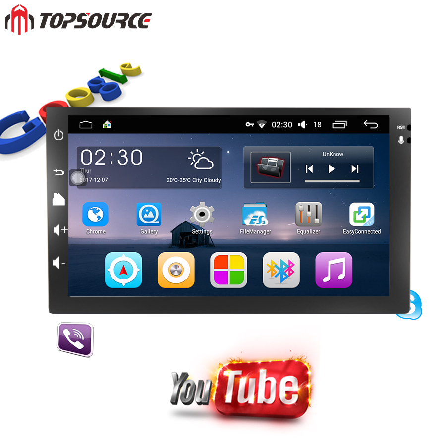 TOPSOURCE 7 inch universal 2 din car dvd gps android Car radio Player GPS NAVIGATION For VW Nissan TOYOTA Volkswagen Peogeo