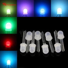 5-1000pcs DC5V Diffused round hat RGB LED with WS2811 chipset inside,5mm F5/8mm F8 Neo pixel Arduino led chips RGB full color