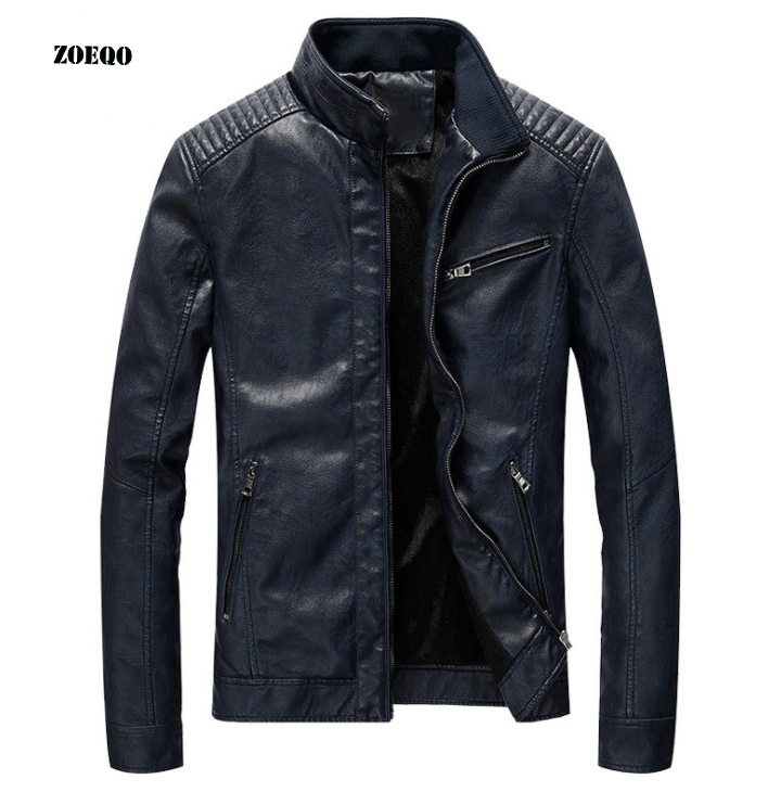 Men Leather Jacket Spring Autumn Motorcycle Leather Jackets Fashion High Quality PU  Biker Jacket Male coat 4XL 5XL-in Faux Leather Coats from Men's Clothing    1