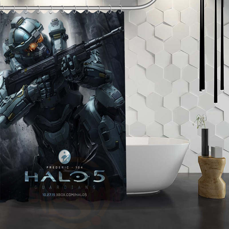 Hot Sale Custom Halo Shower Curtain Waterproof Fabric Bath For Bathroom FY1 17 In Curtains From Home Garden On Aliexpress