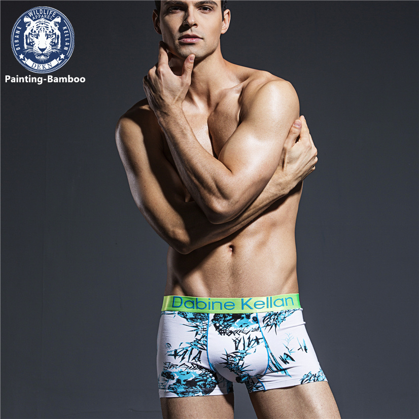 2Pcs Painting Sexx Mens Bulge Enhancing Underwear Cotton -4754