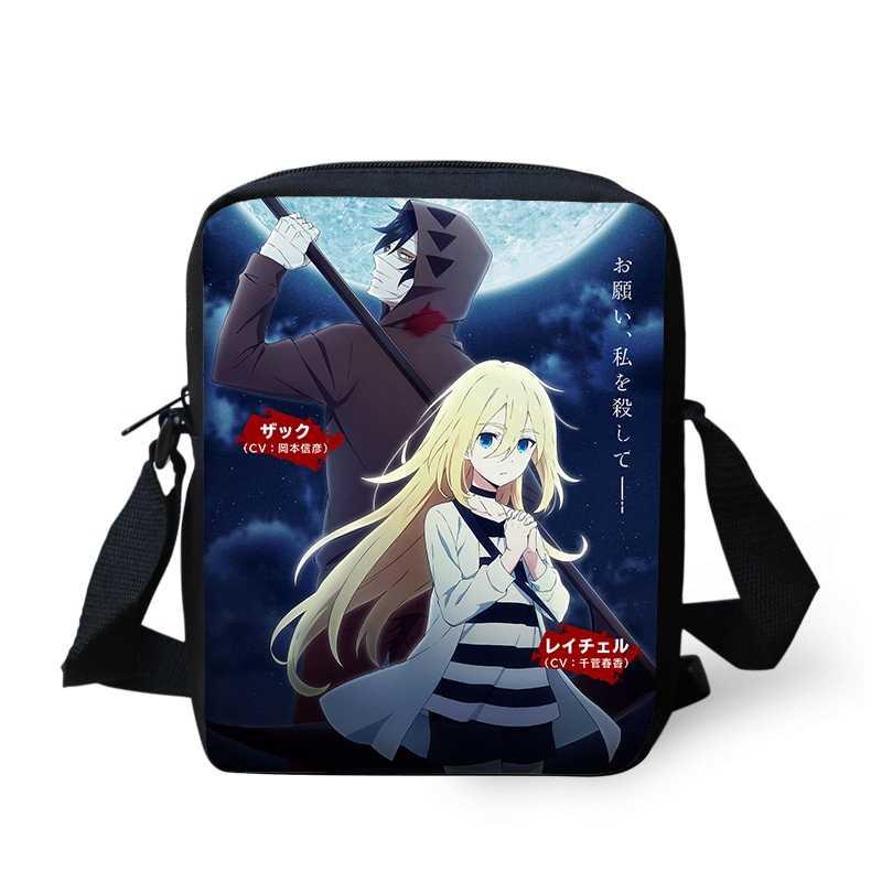 943dbb285344 Аниме ангелы смерти мини сумка для мальчиков и девочек Подростковые Сумки  через плечо Satsuriku no Tenshi