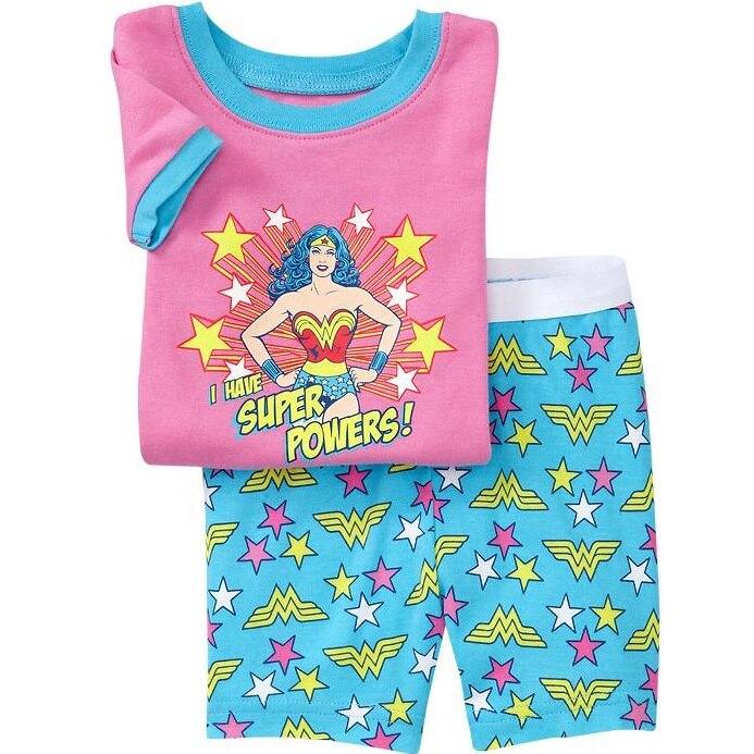 Liberal 2019 Kinder Sommer Pyjamas Kleidung Set Königin Mädchen Cartoon Nachtwäsche Anzug Set Kinder Kurzen ärmeln + Shorts 2- Stück Baby Kleidung