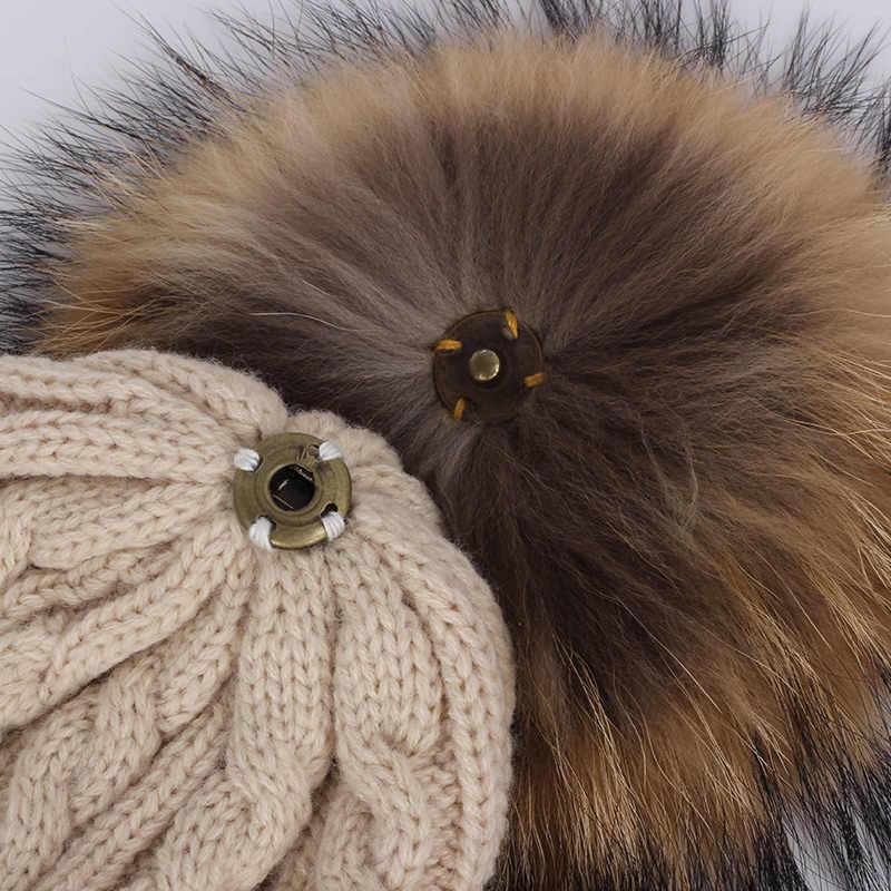 Marca skullies gorros para crianças bola de pêlo tampão do inverno chapéus das crianças das crianças das meninas dos meninos skullies gorros para crianças pompom pompom chapéu