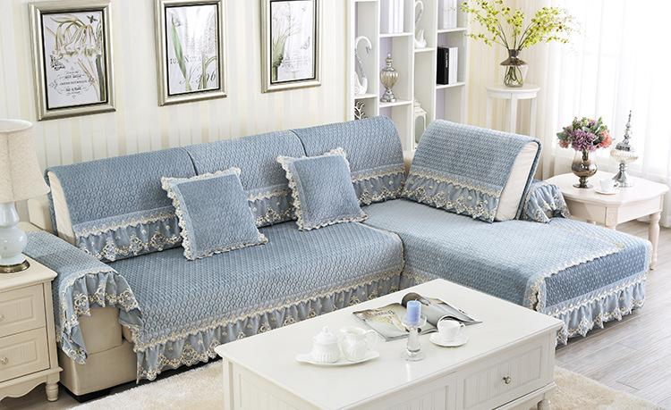 Aliexpresscom Buy new style Simple pure cotton fabric lace sofa