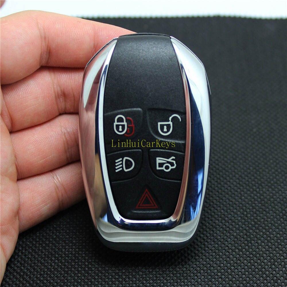 PINECONE Key Case for JAGUAR XJ XJL Remote Key 5 Buttons Original Replace Remote Blank Key