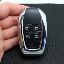 цена на PINECONE Key Case for JAGUAR XJ XJL Remote Key 5 Buttons Original Replace Remote Blank Key Shell Cover 1 PC 95% New With Logo