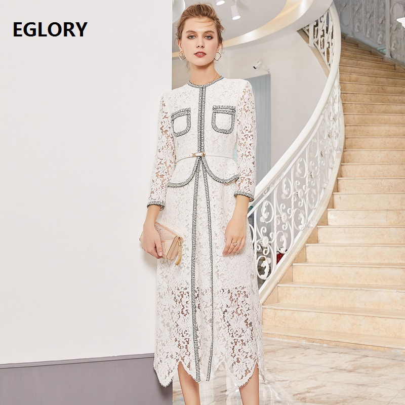 Celebrity style floral dentelle maille insert femme moulante midi robe de soirée