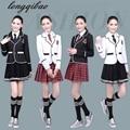 Детская школьная форма одежда и длинными рукавами хор начальной школы студентов чтению Британский студент школьная форма