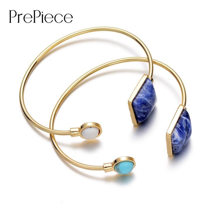 PrePiece Brand New Stylish Gold Color Lapis Lazuli Stone ...
