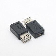 Черный USB 2,0 Тип A Женский к Micro USB B Женский адаптер переходник usb 2,0 к Micro usb разъем